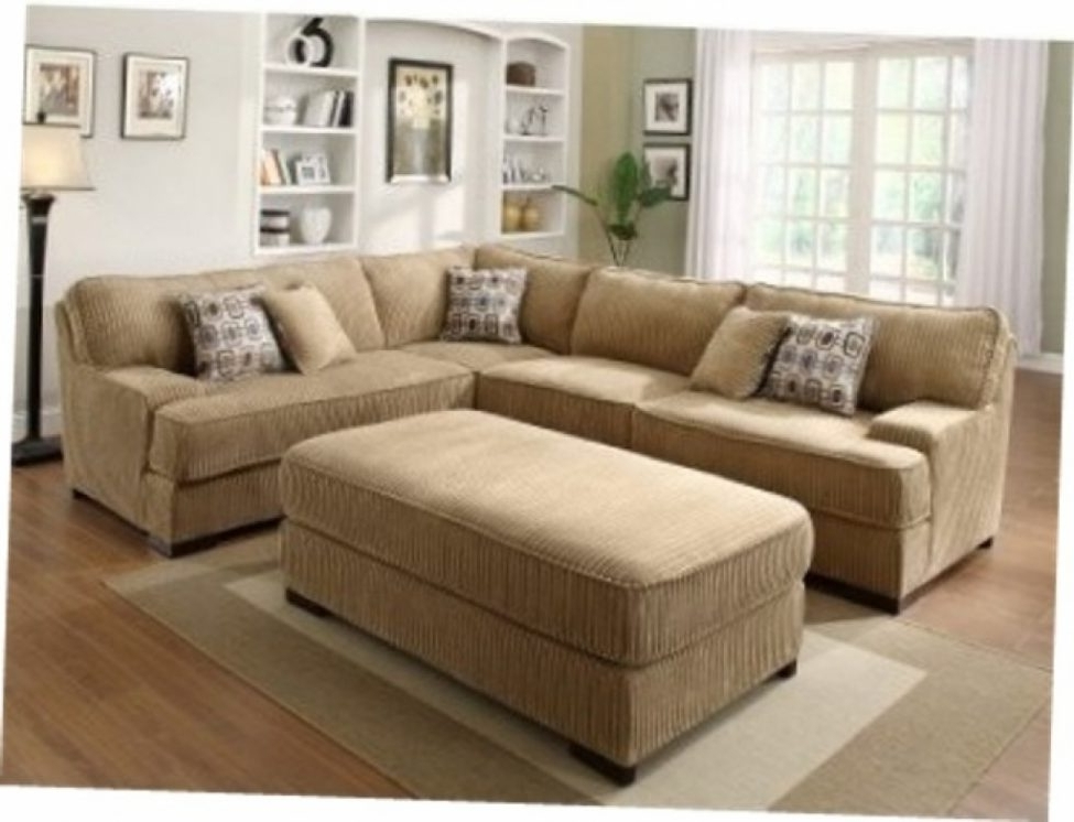 Sectional Couches With Large Ottoman With Most Recent Attractive Sectional Sofas Large Sofa With Ottoman Reloc Homes (View 5 of 10)