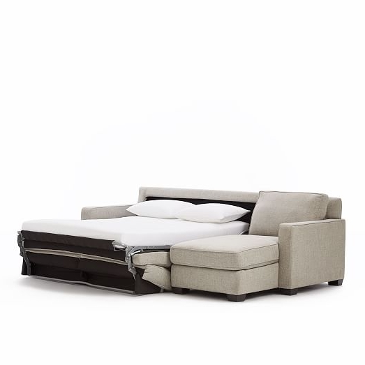 Sectional Sleeper Sofas With Chaise Within 2018 Henry® 2 Piece Pull Down Full Sleeper Sectional W/ Storage (View 14 of 15)
