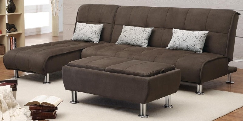 Sectional Sleeper Sofas With Ottoman Pertaining To Trendy Convertible Sectional Sleeper Sofa With Ottoman 2018 / (View 10 of 10)