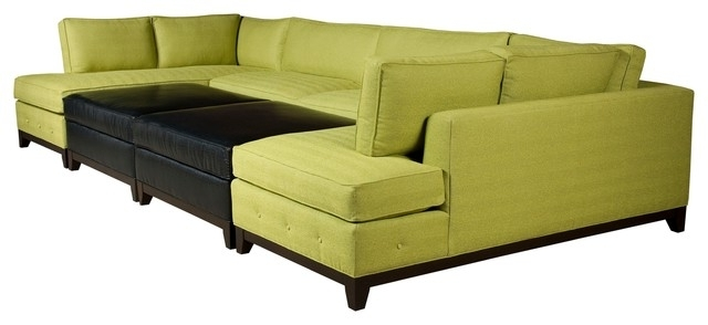 Sectional Sofa Design: Best Sectional Sofas With Ottoman Design With Regard To Popular Green Sectional Sofas With Chaise (View 7 of 10)