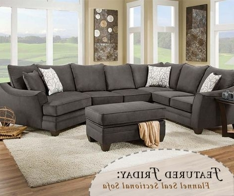 Sectional Sofa Design: Dark Gray Sectional Sofa Chaise Deep Seat For Well Liked Gray Sectionals With Chaise (View 11 of 15)