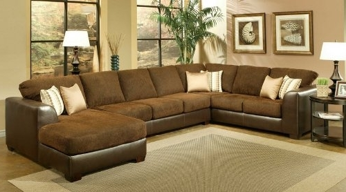 Sectional Sofa Design: Elegant Microfiber Sectional Sofa With Throughout Well Known Microfiber Sectional Sofas With Chaise (View 13 of 15)