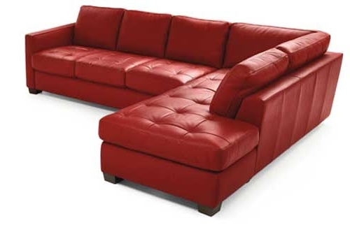 Sectional Sofa Design: Good Looking Red Leather Sectional Sofa Red Regarding Well Liked Red Leather Sectional Couches (View 8 of 10)