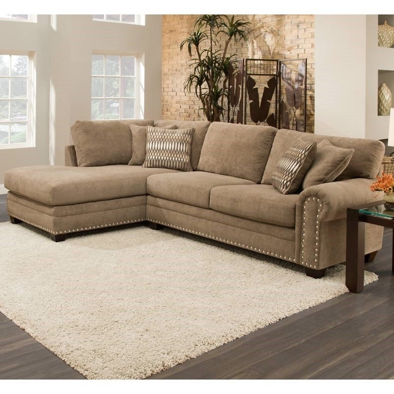 Sectional Sofa With Nailhead Trim (View 3 of 10)