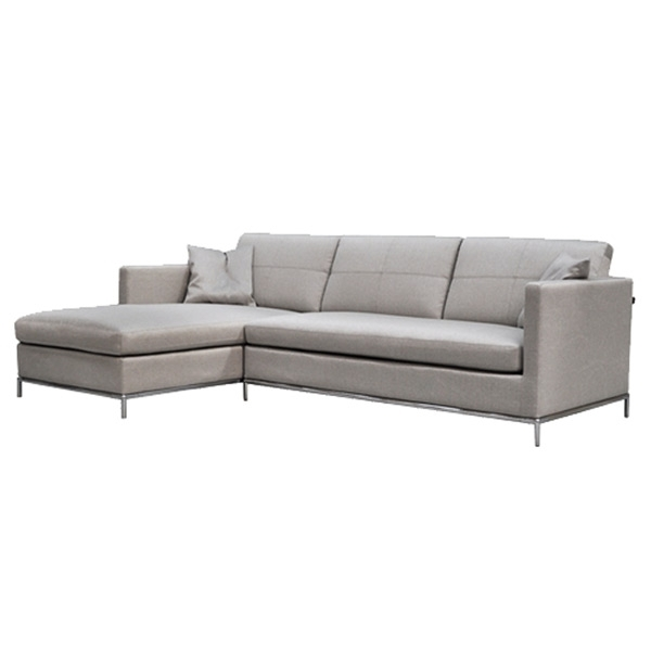Sectional Sofas At The Brick Inside Most Up To Date Istanbul Sectional Sofa In Grey Brick Fabric (View 9 of 10)