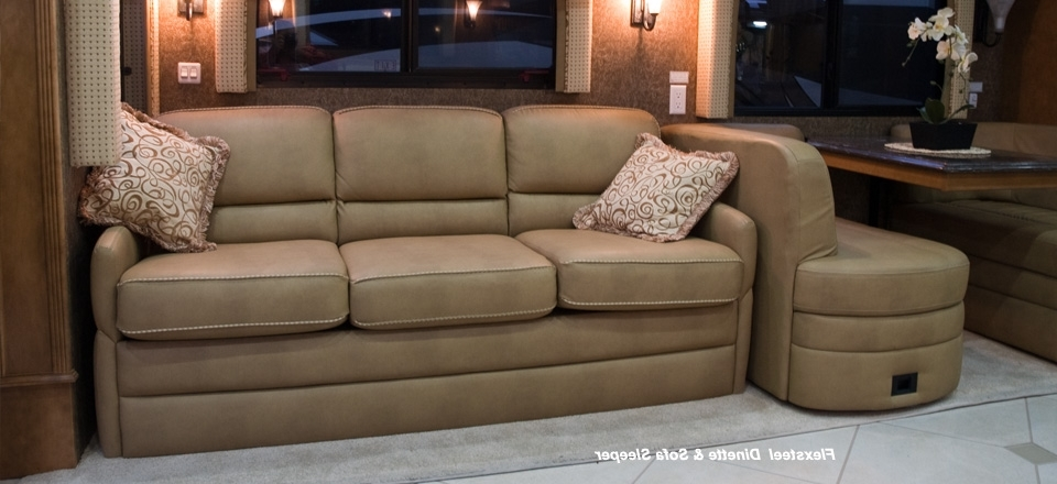 Sectional Sofas For Campers Inside Best And Newest Rv Motorhome Furniture : Luxury White Rv Motorhome Furniture (View 7 of 10)