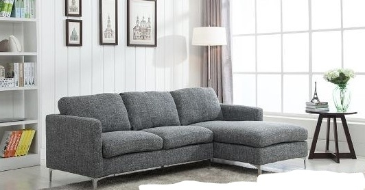 Sectional Sofas For Condos Pertaining To Well Known Condo Size Fabric Sectional G 63 – Vancouver Sofa Company (View 7 of 10)