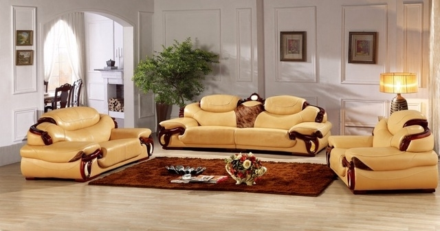 Sectional Sofas From Europe Regarding Preferred Antique European Leather Sofa Set Living Room Sofa Made In China (View 6 of 10)