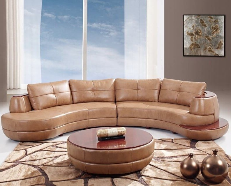 Sectional Sofas In North Carolina Intended For Favorite Endearing Curved Leather Sofas 25 Contemporary Curved And Round (View 7 of 10)