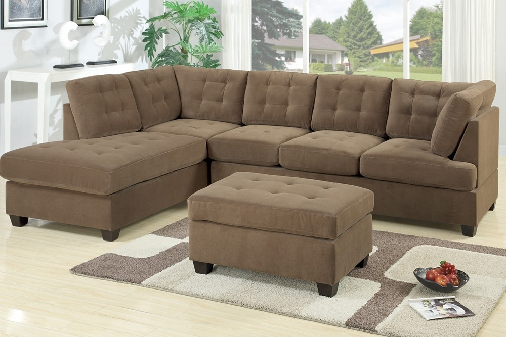 Sectional Sofas Inside Trendy Sectional Sofa Waffle Suede (View 6 of 10)