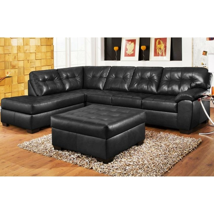 Sectional Sofas Pertaining To Famous Black Leather Sectionals With Ottoman (View 10 of 10)