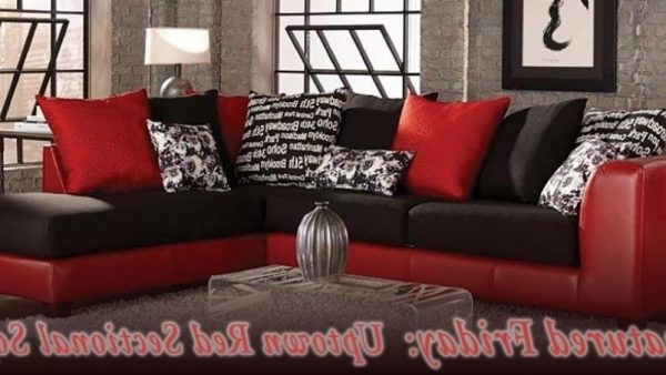Sectional Sofas – Red And Black Intended For Red Black Sectional Sofas (View 9 of 10)