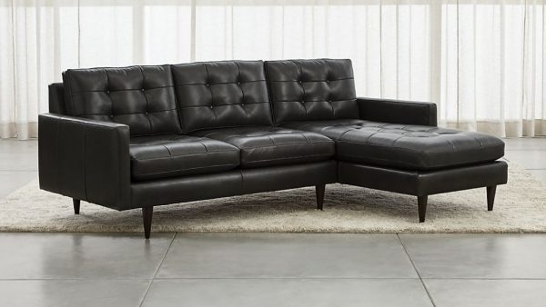 Sectional Sofas : Sectional Sofa With 2 Chaises – Petrie Leather 2 Within Trendy Sectional Sofas With 2 Chaises (View 5 of 10)