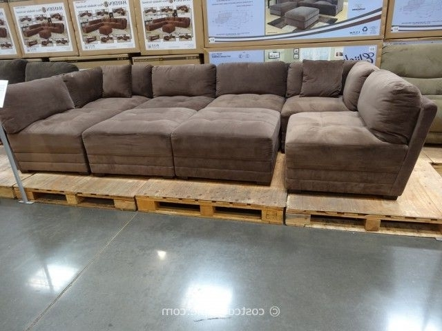 Sectional Sofas That Come In Pieces Within 2018 Sectional At Costco Lakewynne Fabric Sectional Gray Sectionals (View 8 of 10)