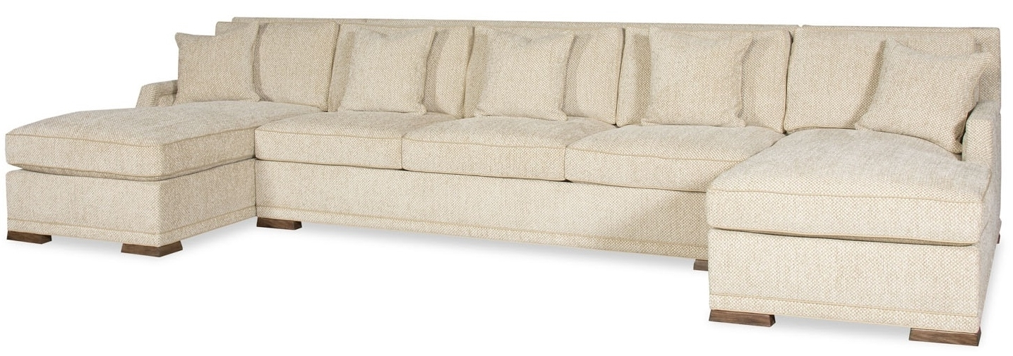Sectional Sofas With 2 Chaises Throughout Current Simple Style Large Sectional Sofa With 2 Chaises  (View 8 of 10)