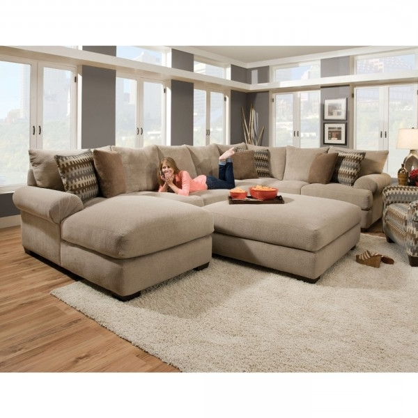 Sectional Sofas With Chaise And Ottoman With Preferred Bacar Living Room – Raf Chaise, Armless Sofa, Laf Sofa With Corner (View 8 of 10)
