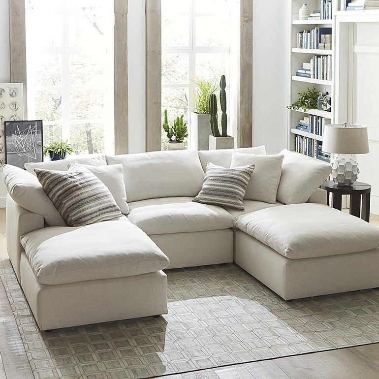 Sectional Sofas With Chaise Pertaining To Best And Newest Envelop Small Double Chaise Sectional (View 9 of 15)