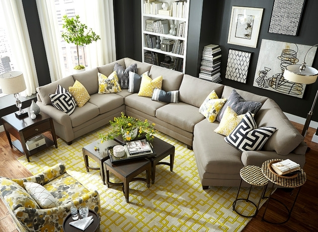 Sectional Sofas With Cuddler Inside Well Known Hgtv Home Design Studio Cu (View 7 of 10)