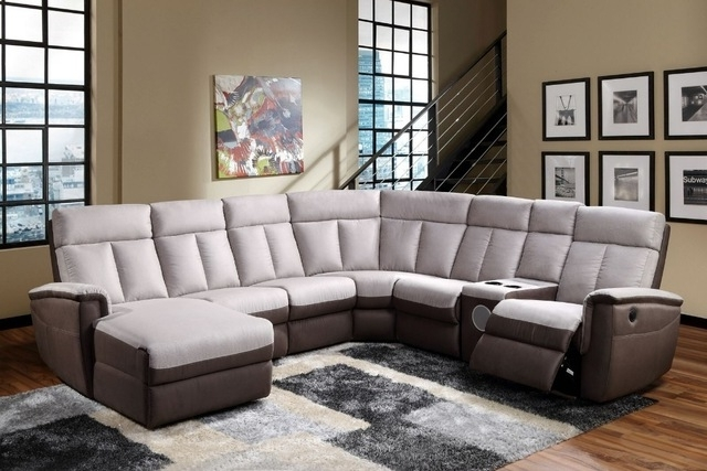 Sectional Sofas With Cup Holders Regarding Well Liked Newest Wholesale Living Room Electric / Manual Recliner Sofa With (View 8 of 10)