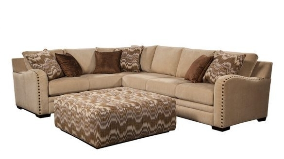 Sectional Sofas With Nailhead Trim Intended For Best And Newest Incredible Sectional Sofa With Nailhead Trim 1025Theparty Com (View 8 of 10)