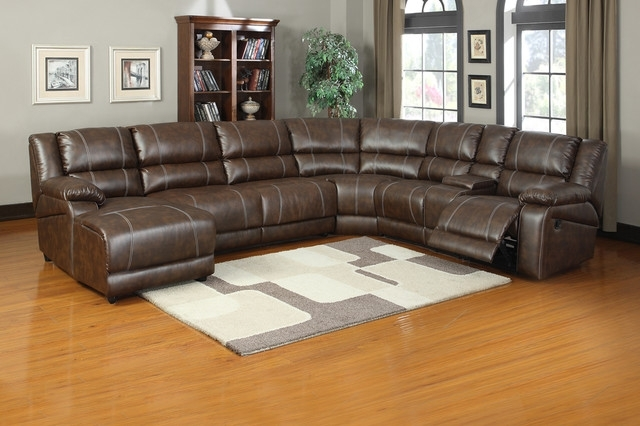 Sectional Sofas With Power Recliners For Most Popular Enchanting Leather Sectional Recliner Sofa Soft Brown Leather (View 7 of 10)