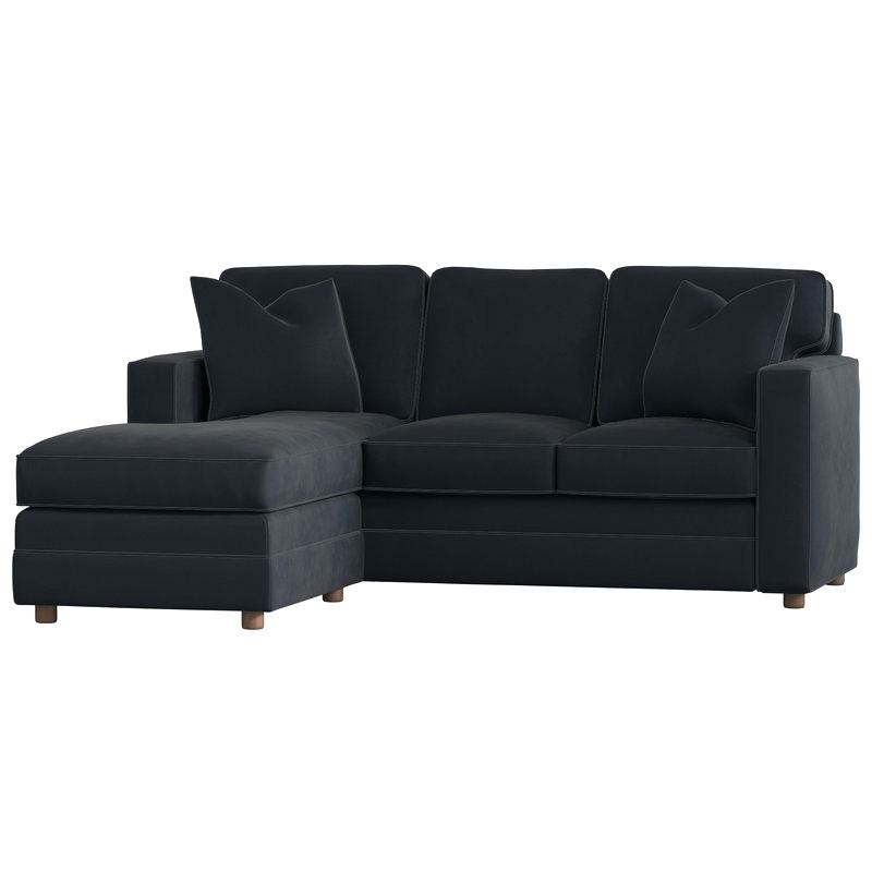 Sectional With Chaise Modern Small Right Chaise Sectional Pertaining To Fashionable Canada Sectional Sofas For Small Spaces (View 7 of 10)