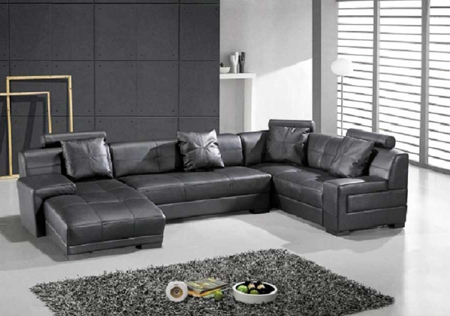 Sectionals Inside Most Popular Black Sectional Sofas (View 8 of 10)