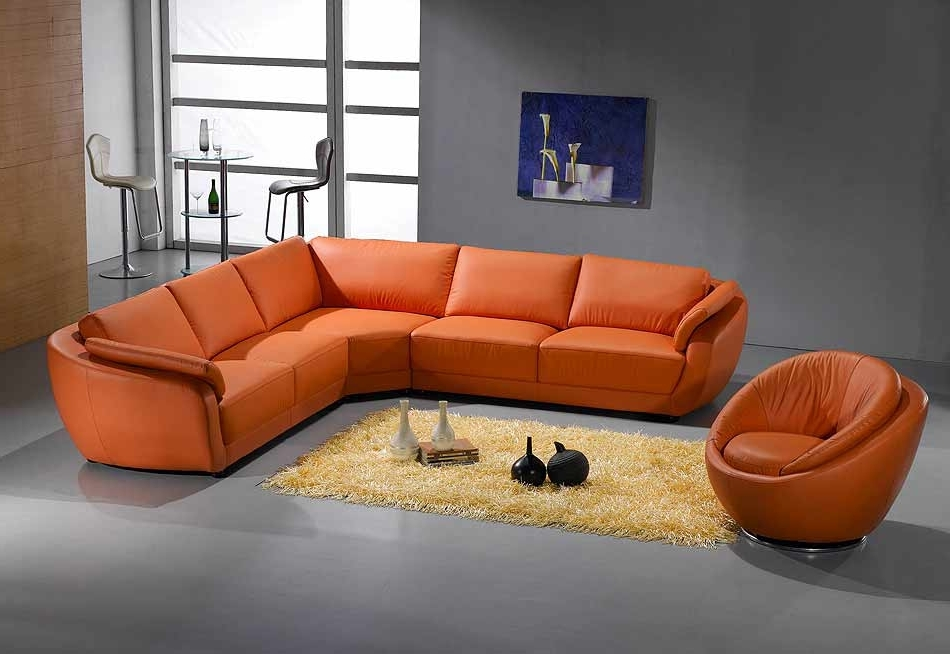 Sectionals Pertaining To Popular Orange Sectional Sofas (View 8 of 10)