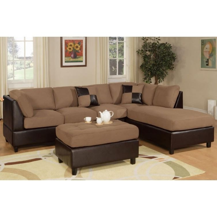 Sectionals With Ottoman Inside Newest Saddle Sectional & Ottoman (View 8 of 10)