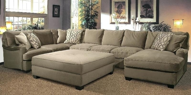 Sectionals With Oversized Ottoman For Widely Used Marvelous Sectional Sofa With Oversized Ottoman U Shaped Sectional (View 6 of 10)