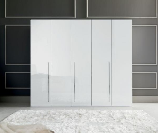 Sienna Wardrobes In White Gloss Finish With Optional Mirror Doors With Regard To Favorite Tall White Gloss Wardrobes (View 10 of 15)