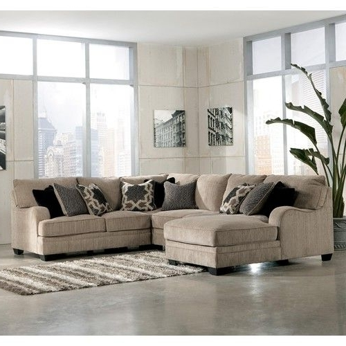 Signature Designashley Furniture Katisha – Platinum 4 Piece Regarding Well Liked Dallas Texas Sectional Sofas (View 9 of 10)
