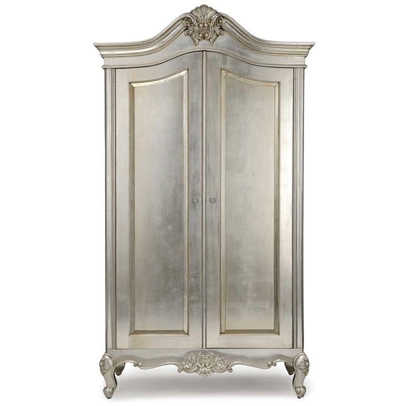 Silver French Armoire Throughout Trendy Silver French Wardrobes (View 7 of 15)