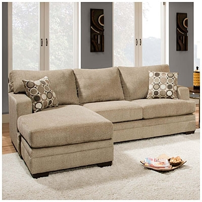 Simmons Sectional Sofas Intended For Favorite Simmons® Columbia Stone Sofa With Reversible Chaise At Big Lots (View 1 of 10)
