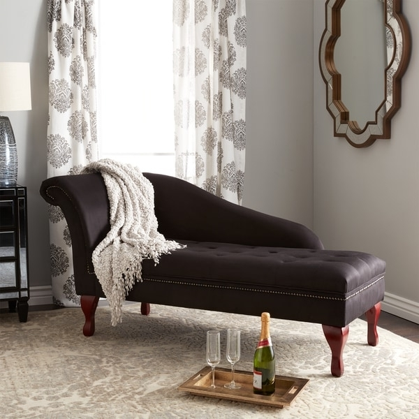 Simple Living Black Storage Chaise Lounge – Free Shipping Today Intended For Current Overstock Chaise Lounges (View 4 of 15)