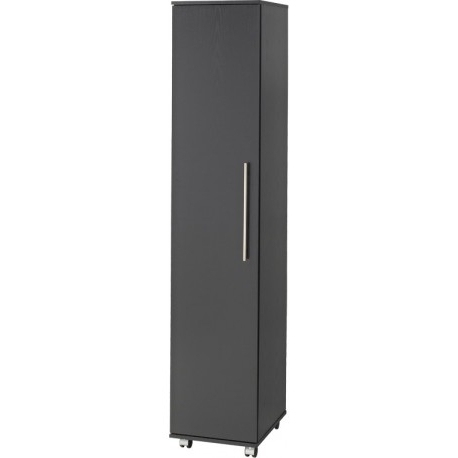 Single Black Wardrobes Throughout Popular Bobby Single Door Wardrobe – Brixton Beds (View 9 of 15)