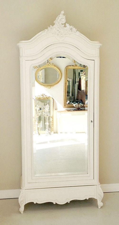Single French Wardrobes For Latest If3411 Antique French Rococo Single Armoire (View 12 of 15)