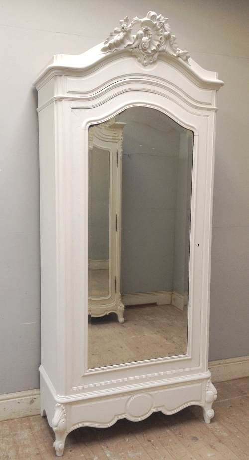 Single French Wardrobes Within Most Up To Date If4239 Antique French Rococo Single Armoire (View 10 of 15)