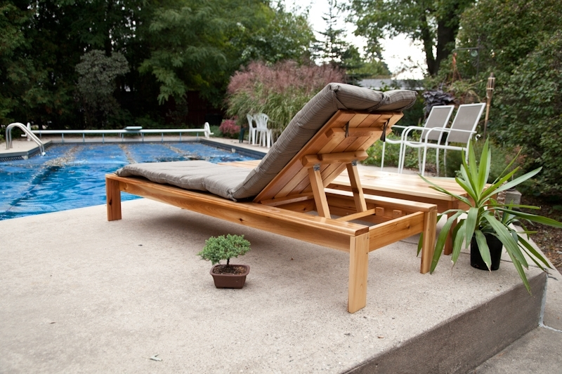 Single Lounger For The Simple Modern Outdoor Regarding Favorite Diy Chaise Lounge Chairs (View 12 of 15)