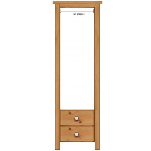 Single Pine Wardrobes With Drawers Pertaining To Well Known Shaker Single Door 2 Drawer Wardrobe (View 11 of 15)