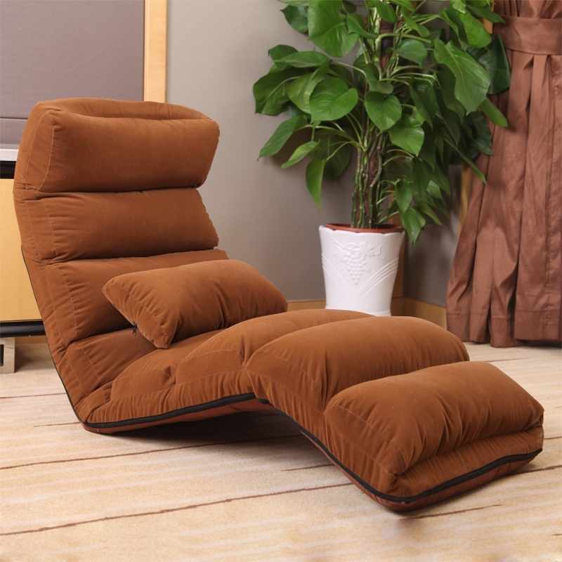 Single Tatami Lazy Sofa Sofa Lazy Chair Chair Folding Chair Throughout Most Current Lazy Sofa Chairs (View 10 of 10)
