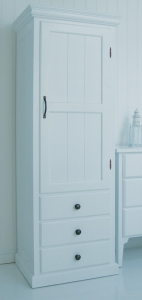 Single White Wardrobes With Drawers For Popular Manhattan Single Wardrobe With Drawers Buy In Arundel (Gallery 11 of 15)