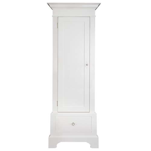 Single White Wardrobes With Regard To Widely Used Skogaholm Single Wardrobe 1 Drawer – Nordic Style (View 7 of 15)