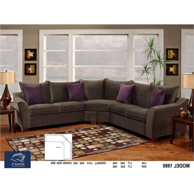 Slate Grey Plush Microfiber Sectional Sofa – Modern Sofa Company With Regard To Most Up To Date Microfiber Sectional Sofas (View 10 of 10)