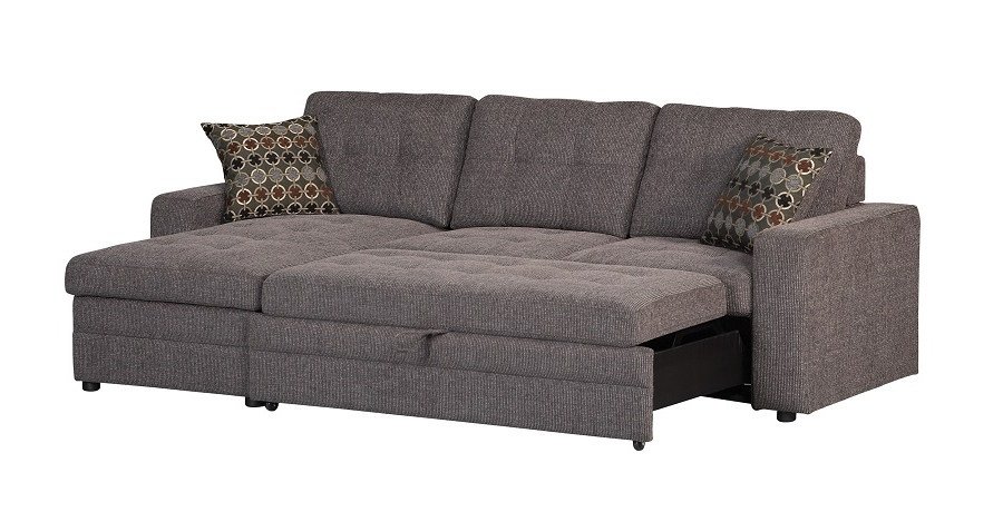 Sleeper Sofas With Chaise With Latest Gus Collection 501677 Coaster Sleeper Sectional Sofa (View 12 of 15)