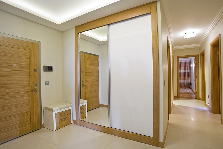 Sliding Wardrobe Doors In White Gloss, White Glass And White Matte (View 14 of 15)