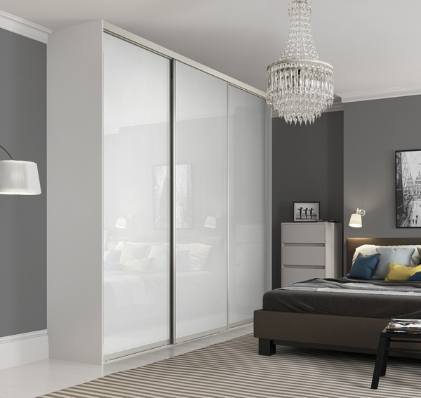 Sliding Wardrobe World Throughout White High Gloss Sliding Wardrobes (View 8 of 15)