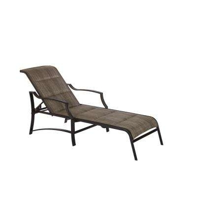 Sling Patio Furniture – Hampton Bay – Outdoor Chaise Lounges Inside Famous Outdoor Chaise Lounge Chairs With Arms (View 12 of 15)