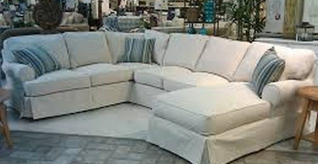 Slipcover Sectional Couch Brilliant Slipcovers Sofa Home And With Trendy Slipcovered Sofas With Chaise (View 9 of 15)