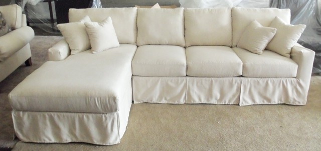 Slipcovered Sofas With Chaise In Newest Sectional Sofa Design: Most Comfortable Slipcover Sectional Sofas (View 11 of 15)